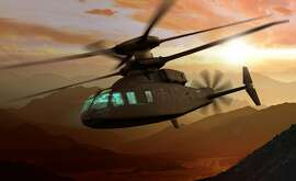 A rendering of the Sikorsky-Boeing SB>1 Defiant, which Sikorsky confirmed in August 2018 has been designated the S-100 in a formal filing with the Federal Aviation Administration.
