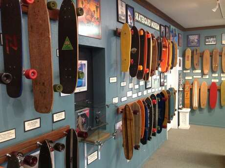The Morro Bay Skateboard Museum has a collection of more than 200 skateboards from all eras, as well as rotating exhibits from private collections.