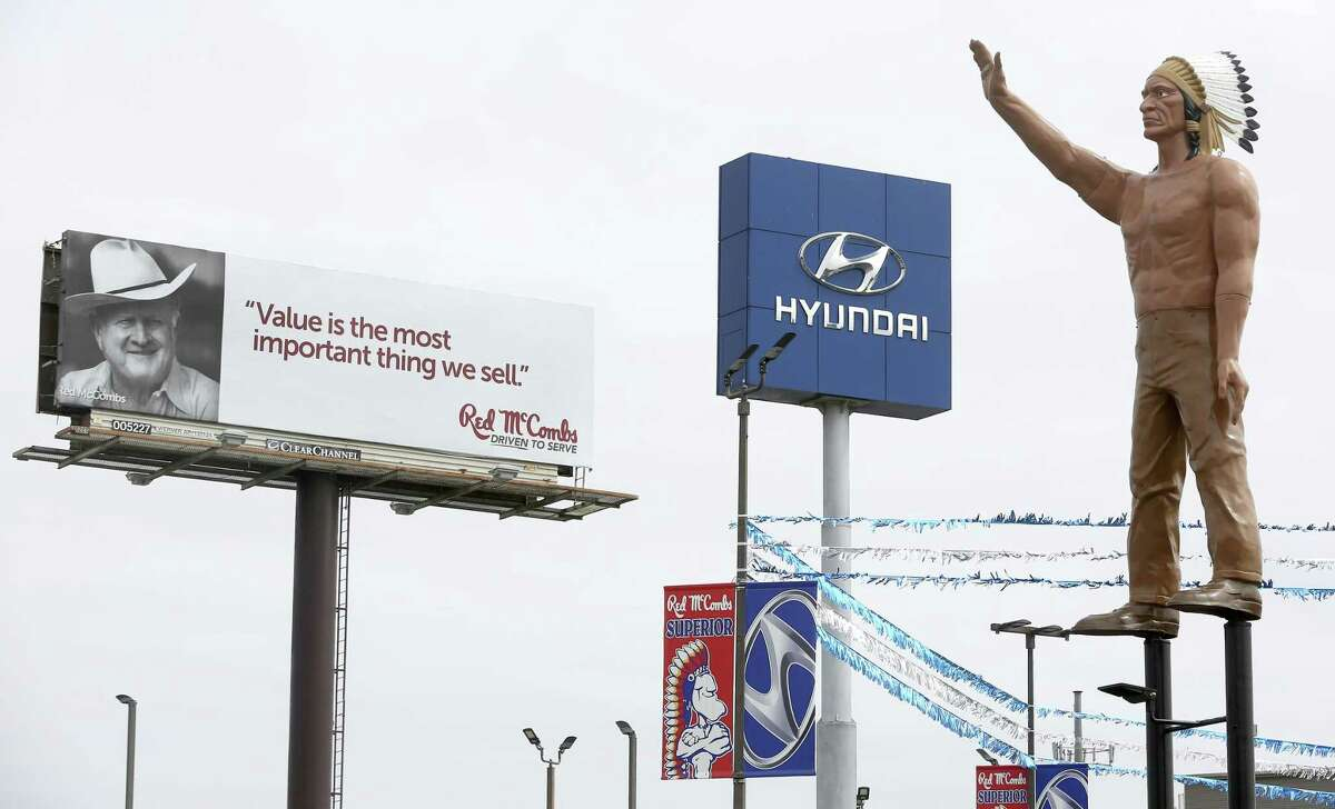 The American Indian statue at the McCombs Superior Hyundai dealership on Loop 410 has outlived the Pontiac car brand it first promoted. General Motors rolled out the last Pontiac vehicle in 2010.