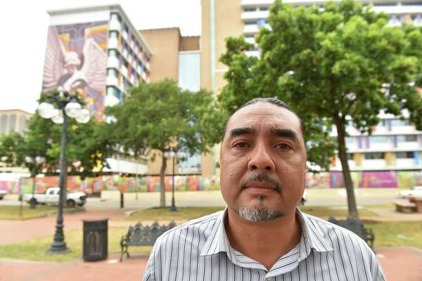 Ramón Vásquez, executive director of American Indians in Texas, stands in front of the Children's Hospital of San Antonio in 2017. Vásquez said Christus Santa Rosa Health System worked with lineal ground to resolve issues after at least 70 graves were discovered during an improvement project at the hospital. He said he would like similar cooperation with the planned expansion and renovation of the historic Alamo.