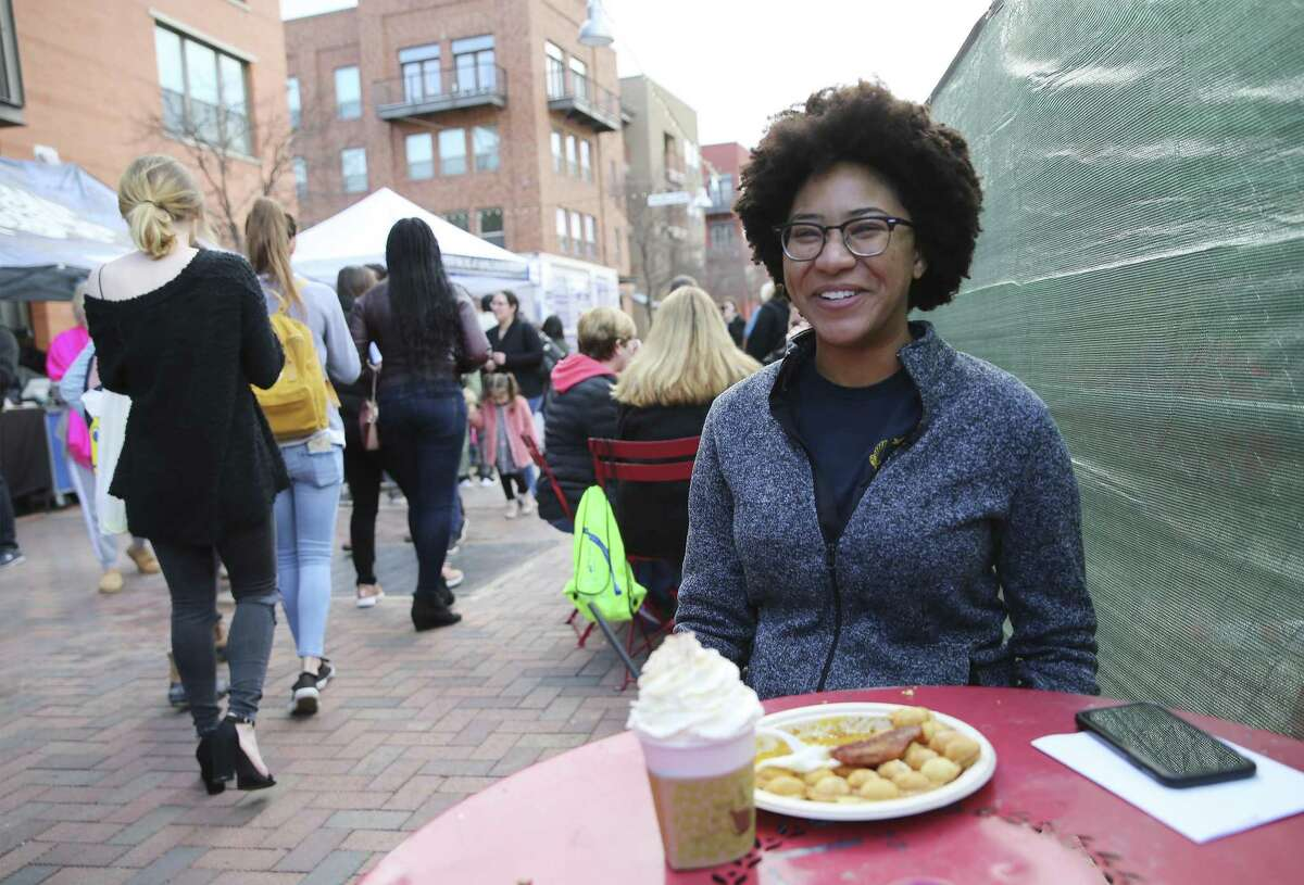 Dallas Williams enjoys a treat while at The Pearl on Saturday, Jan. 26, 2019. She said many millennial women in their twenties put off marriage and motherhood to focus on their professional growth.