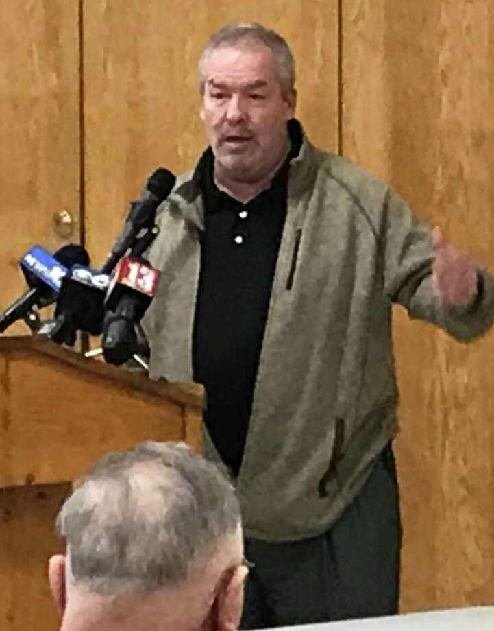 Cohoes Mayor Shawn Morse attends a Thursday, March 7, 2019 forum. (Kenneth C. Crowe II / Times Union)