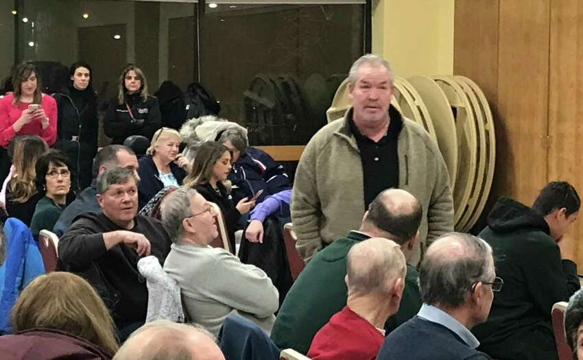 Cohoes Mayor Shawn Morse attends a Thursday, March 7, 2019 forum on the future of the Cohoes Community Center. (Kenneth C. Crowe II / Times Union)