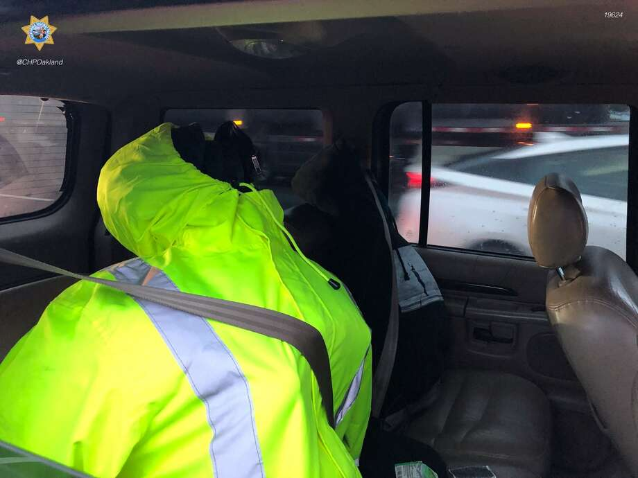 Someone tried to cheat the carpool lane with two dummies in the backseat, according to the CHP. Click through the gallery for more outrageous examples of creative carpool cheating. Photo: CHP Oakland