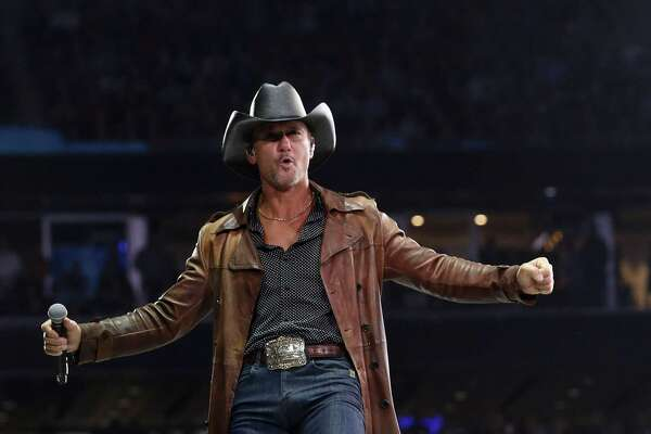 Tim McGraw performs at the Houston Livestock Show and Rodeo Thursday, March 7, 2019, in Houston.