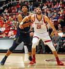 Stanford's Josh Sharma and California's Andre Kelly vie for rebounding position in 1st half during Pac 12 men's basketball game at Maples Pavilion in Stanford, Calif., on Thursday, March 7, 2019.