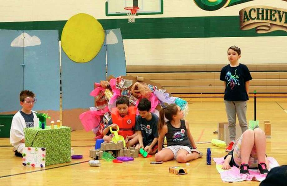 Plymouth Elementary finished in first place in a Destination Imagination regional competition Saturday, Feb. 23 in Clare. (Photo provided)