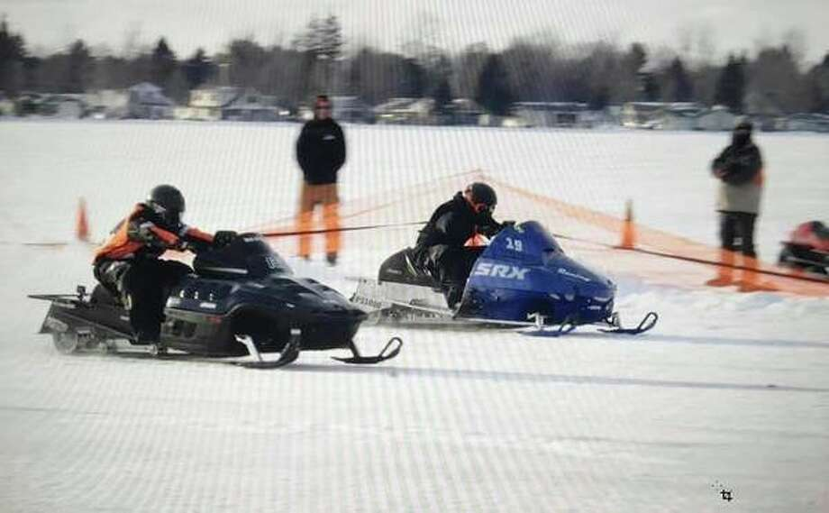Ice drag racers compete on Houghton Lake. The speed comes to Beaverton's Ross Lake for the first time this Saturday. Racing begins at noon. Spectator parking is at Brown Machine across from the lake. (Photo provided)