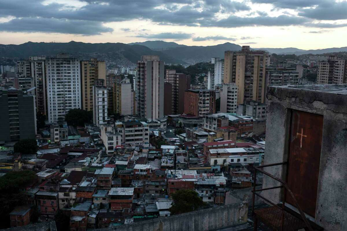 A view of Caracas, Venezuela, from an apartment roof in February.