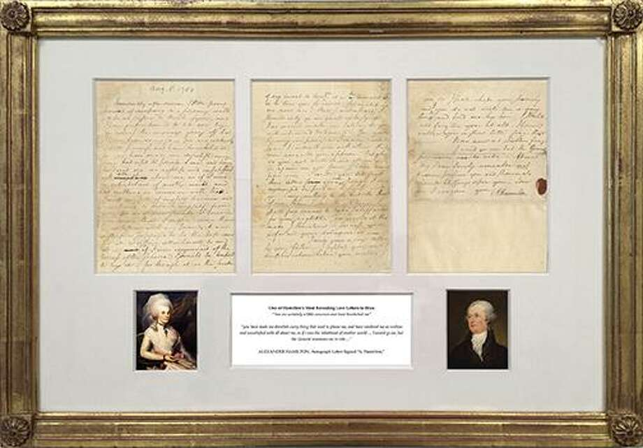 Items on display (but not for sale) at 39th annual Ephemera Fair at the Hyatt Regency Greenwich will include a treasure trove of American documents. One of the items on display will be a love letter from Alexander Hamilton. Photo: Contributed /