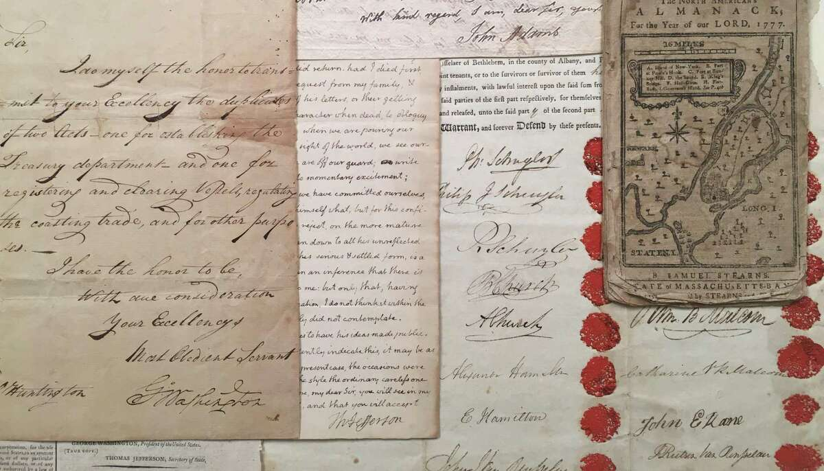 Items on display (but not for sale) at 39th annual Ephemera Fair at the Hyatt Regency Greenwich will include a treasure trove of American documents. One of the items on display will be a love letter from Alexander Hamilton.