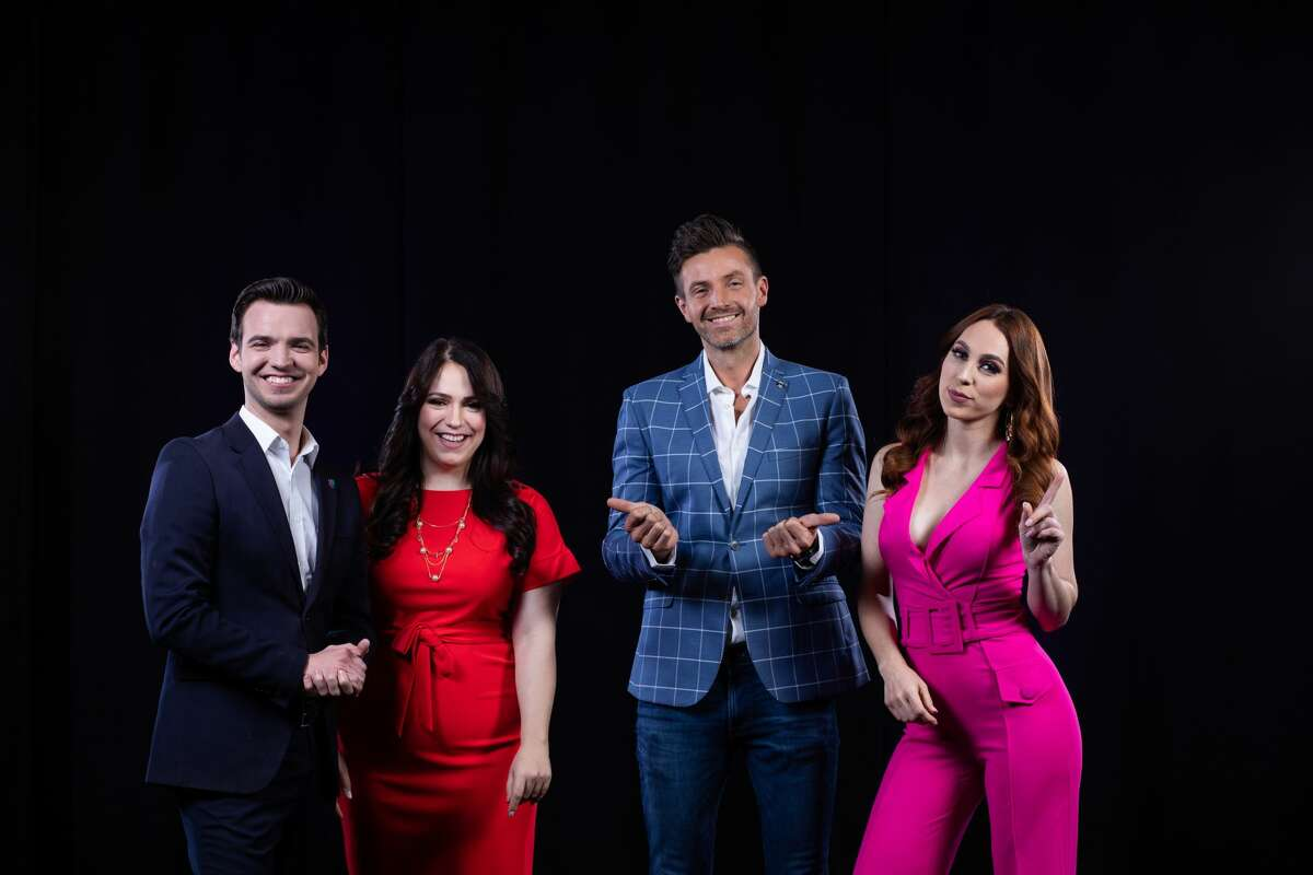 Primera Hora Texas Central co-anchored by Myrna Salas (second to the left) and Francisco Paco Fuentes (middle). Prissila Sanchez (right) will deliver weather and traffic and Jorge Ernesto Viñals (left) will serve as the newscast's main reporter covering breaking and community news.
