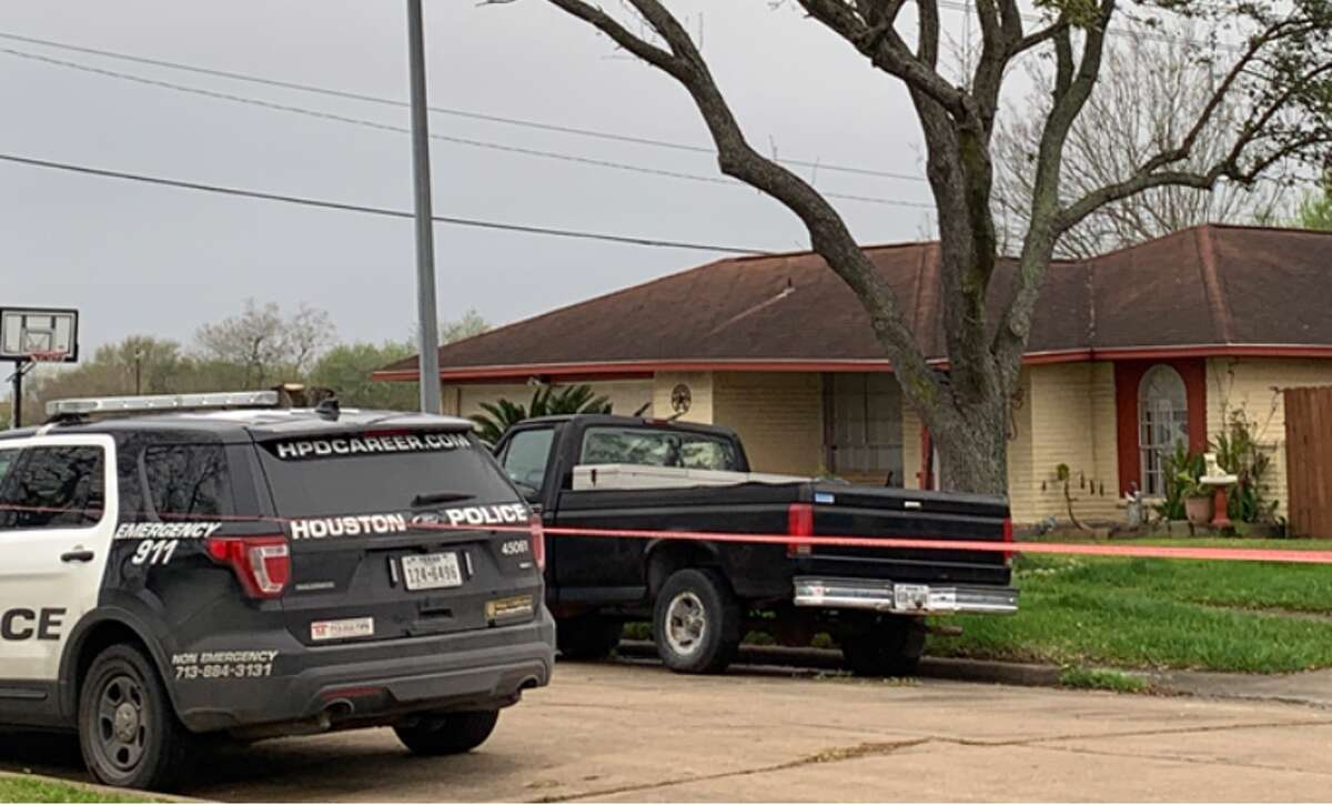 Police are investigating the report of a dead body found in the 12200 block of Sandy Hook Drive on Friday, March 8, 2019, in Houston.