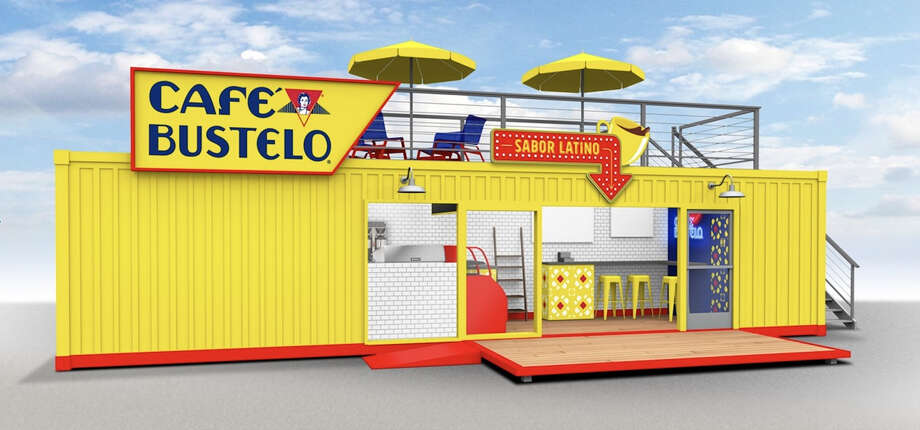 Cafe Bustelo will open a pop-up coffee shop housed in a shipping container in the Montrose neighborhood from March 12 to May 25. Photo: Cafe Bustelo