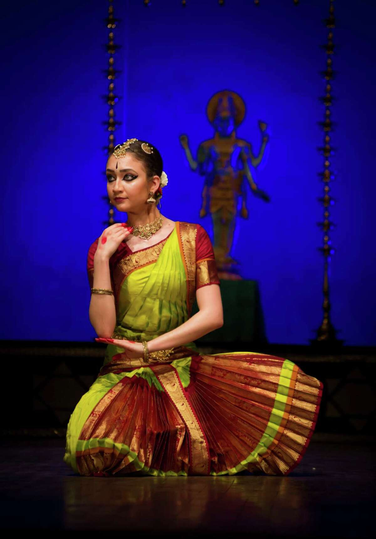 Sophia Salingaros dances during the Rasa Sanje Dance Festival in Bangalore, India, in December 2019. She received much of her early training in Indian Dance in San Antonio.