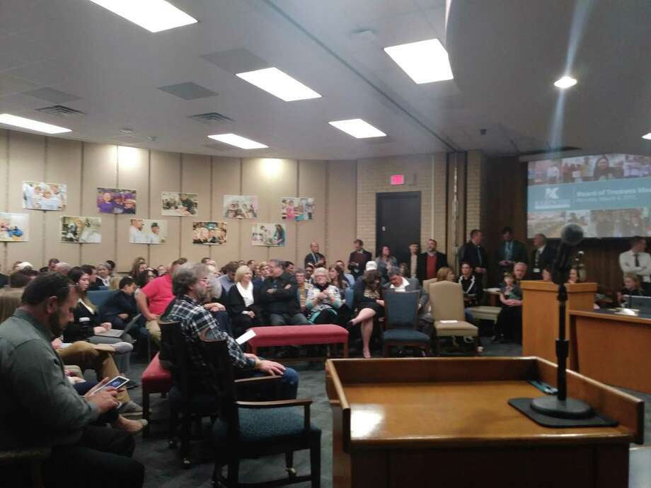 The Klein ISD board of trustees sat down to a room full of families for their regular meeting on March 4, 2019. Photo: Chevall Pryce