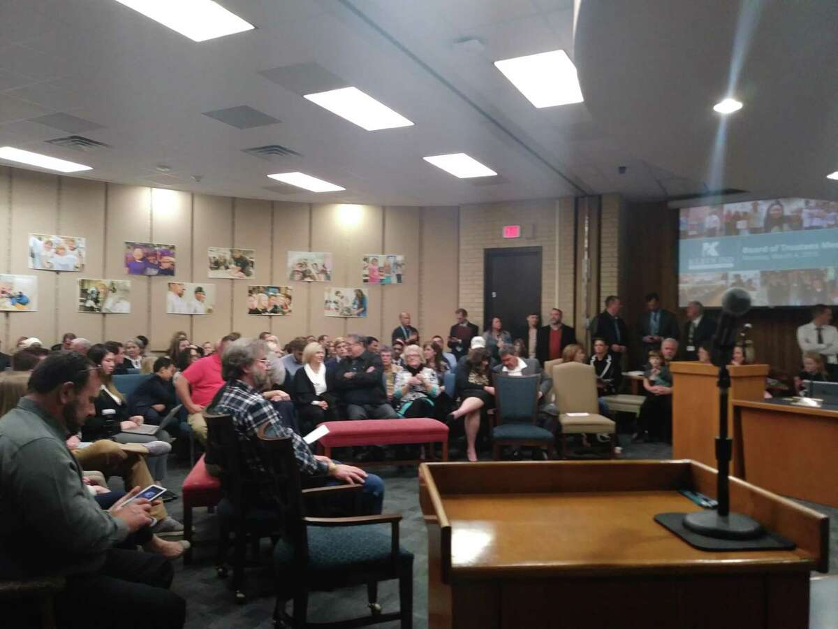 The Klein ISD board of trustees sat down to a room full of families for their regular meeting on March 4, 2019.