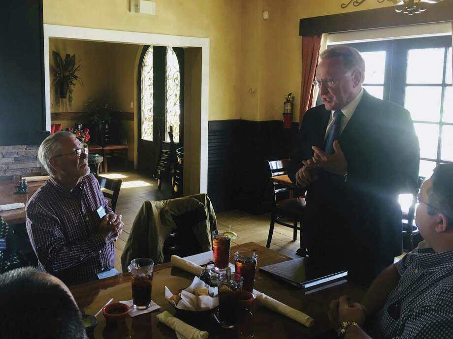 County Judge Mark Keough visited with members of the Conroe Noon Kiwanis Club on March 6.