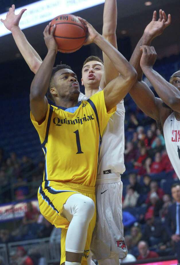 Former Quinnipiac standout Cameron Young is now playing for two-time EuroLeague champion Pallacanestro Cantu. Photo: Erik Trautmann / Hearst Connecticut Media / Norwalk Hour