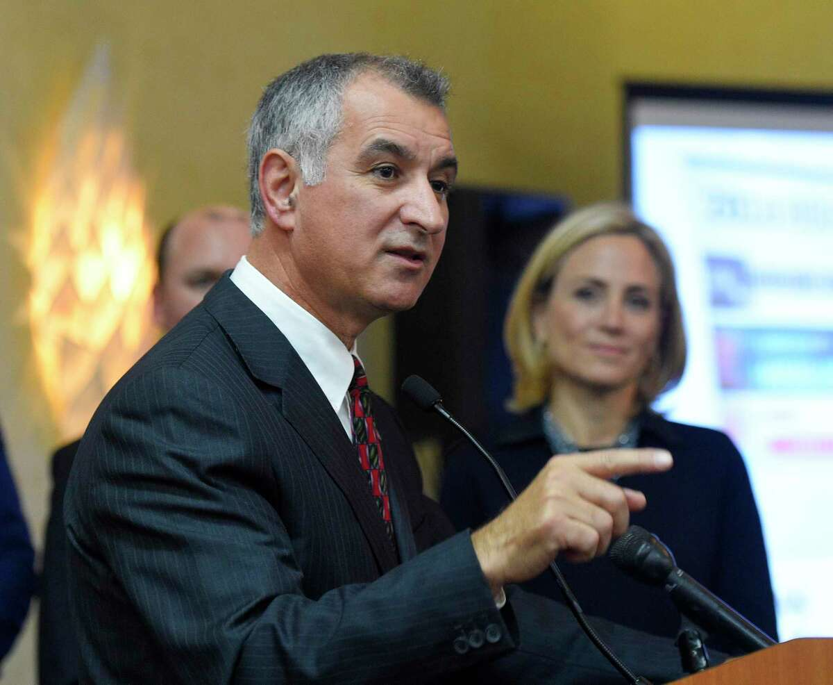 State Sen. Carlo Leone, D-Stamford, co-chairman of the legislative Transportation Committee, will preside over a public hearing Friday afternoon on a proposal to create trucks-only tolls at a dozen highway bridges in the state.