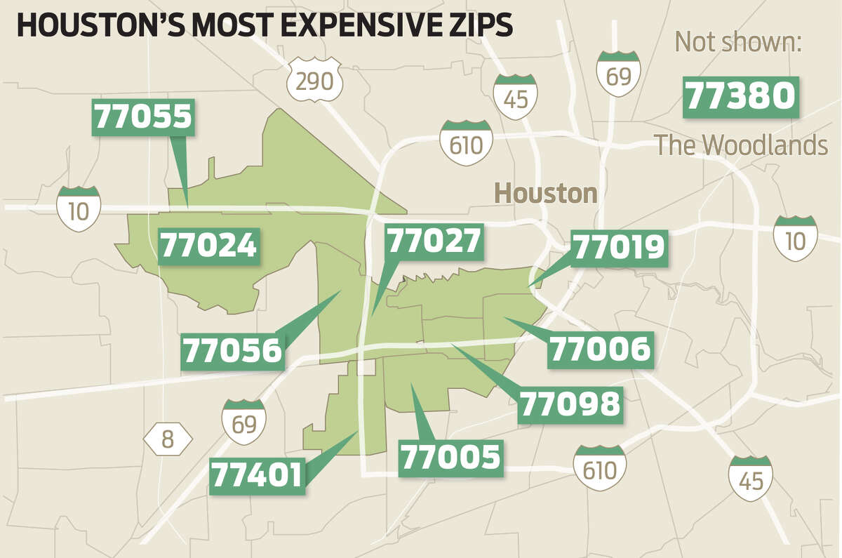 Realtor.com identified the most expensive ZIP codes in the Houston area, based on the median listing price in 2018.Keep going to see how Houston's priciest places compare with the nation's most expensive ZIP codes.