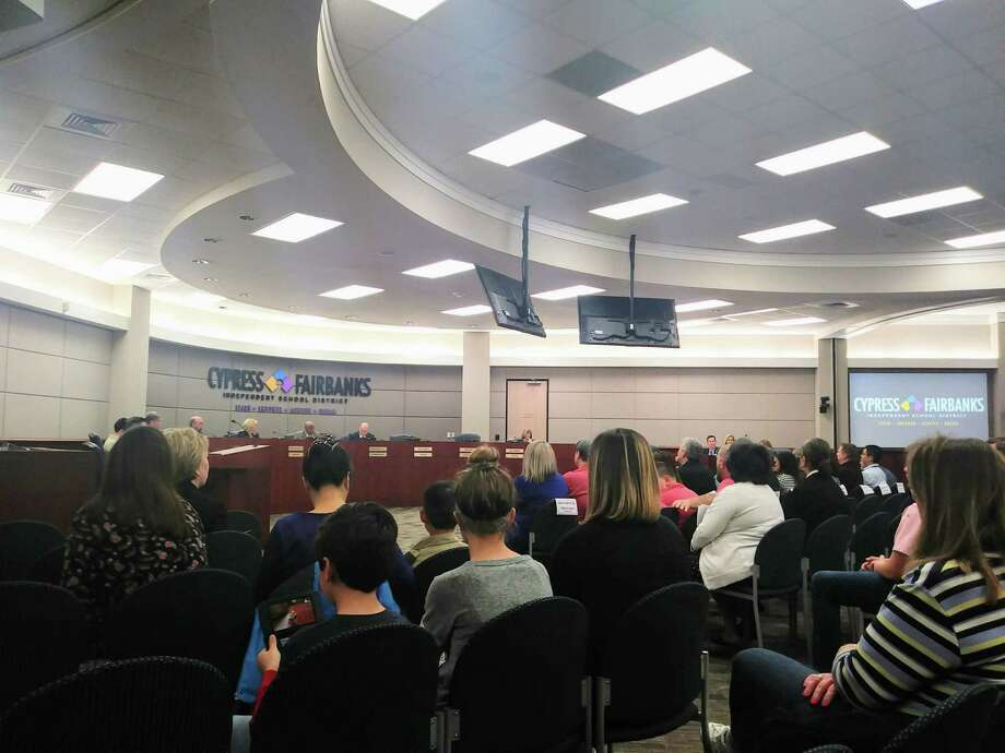 The Cy-Fair ISD board of trustees approved the recommendation from student services to open specific campuses during the 2019-2020 school year for open transfer on March 7, 2019 Photo: Chevall Pryce