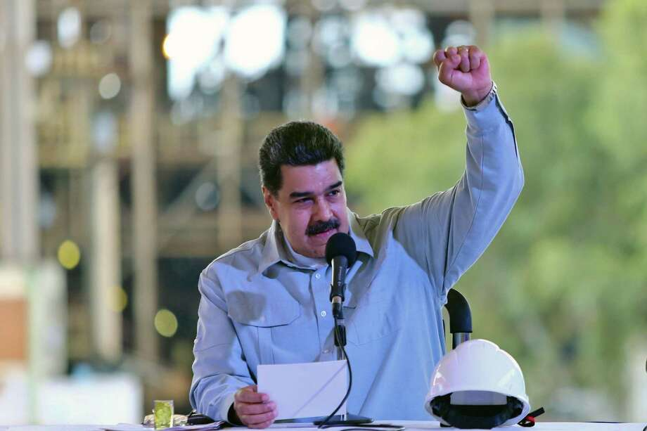 President Nicolas Maduro during a visit to an industry in an event to boost the basic businesses in Guayana, Venezuela on Wednesday. The U.S. must cast opposition to Maduro as about concern for the Venezuelan people, not about ideology. Photo: HO /AFP /Getty Images / Miguel Angulo