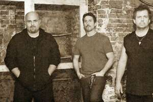 Stamford-based band Liege Lord members, from left, are Danny Wacker, Joe Comeau. Matt Vinci, former drummer Frank Gilchriest and Tony Truglio. Liege Lord will play the Wall Street Theater in Norwalk on March 9.
