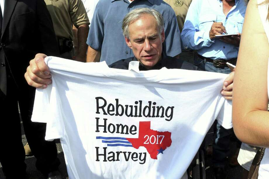 Gov. Greg Abbott helped lead the state in the aftermath of Hurricane Harvey. But on climate change, which could fuel such storms, he refuses that role. He should know better. Photo: Associated Press File Photo / Corpus Christi Caller-Times