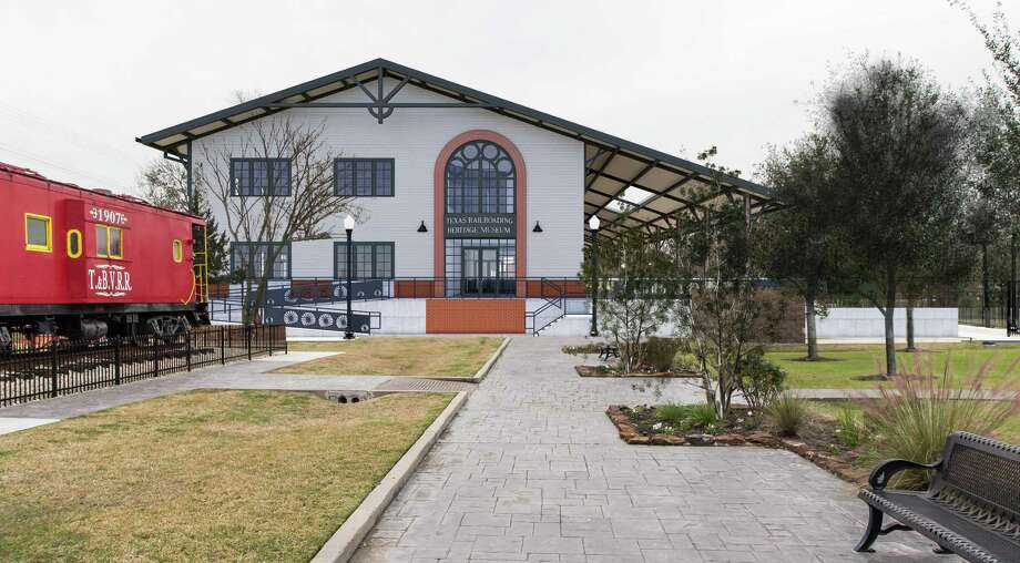 Renderings show the planned Texas Railroading Heritage Museum in Tomball next to the depot in downtown. Photo: Courtesy Of Harry Gendel Architects