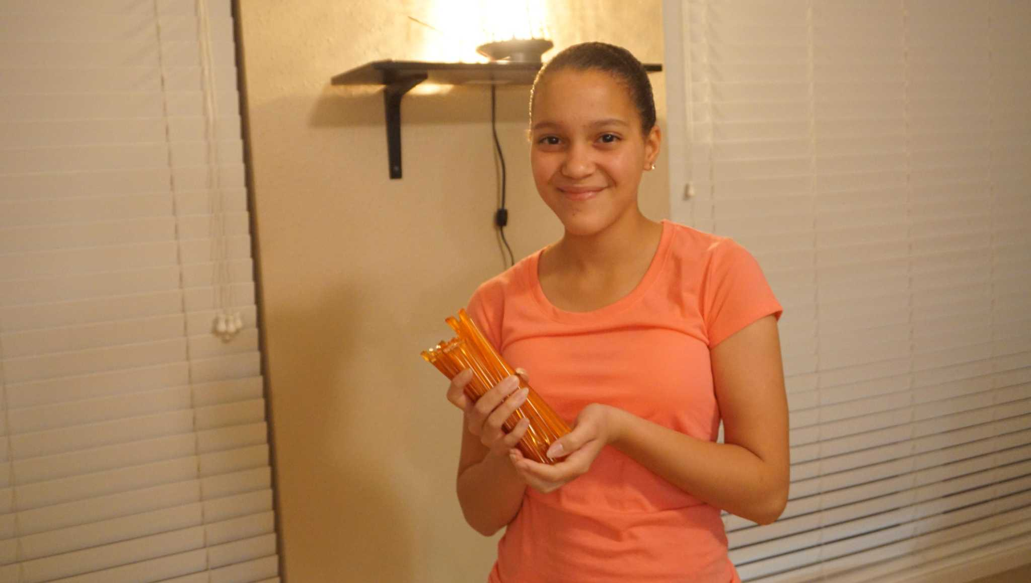 11-year-old adopts honey stick business at Humble Market