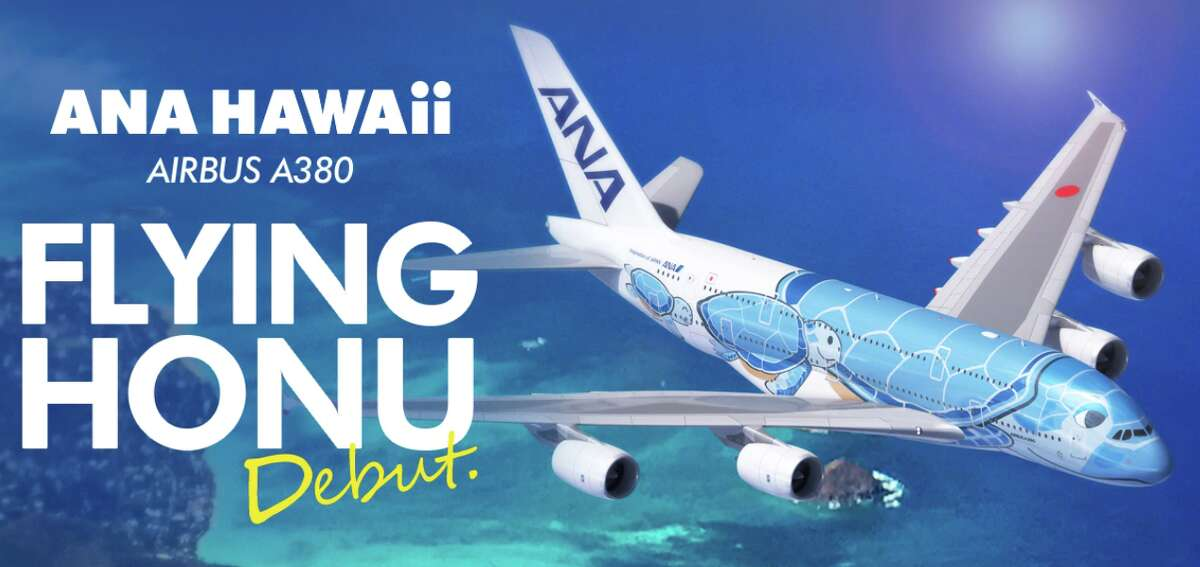 This year ANA will use a special sea turtle livery on its A380s flying between Japan and Hawaii