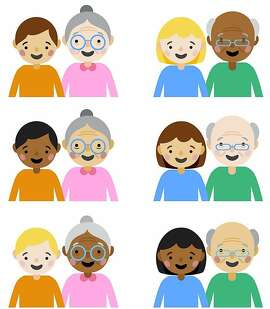 We have emojis for interracial relationships, now we need emojis for inter-generational relationships.