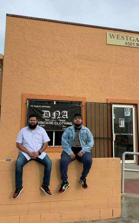 DNA Vintage Clothing owner Gabriel Garza is shown (right) with his older brother Robert Ruiz in front of the store. Keep scrolling to get a sneak peak into Laredo's newest clothing store:  Photo: Courtesy DNA Vintage Clothing