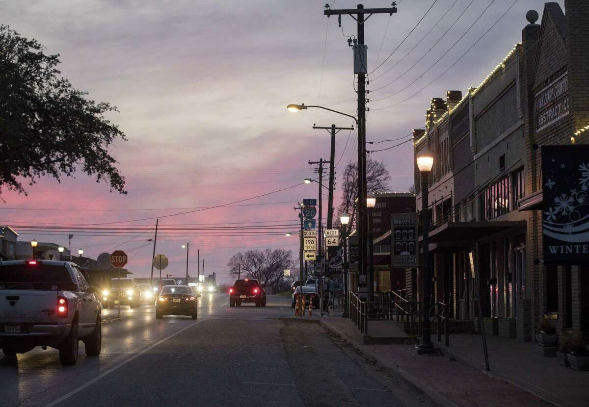 Downtown Canton, photographed Monday, Feb. 4, 2019, in Canton. Van Zandt County, where the town is located, is the site of a proposed installation of tens of thousands of solar panels, and some citizens are upset.