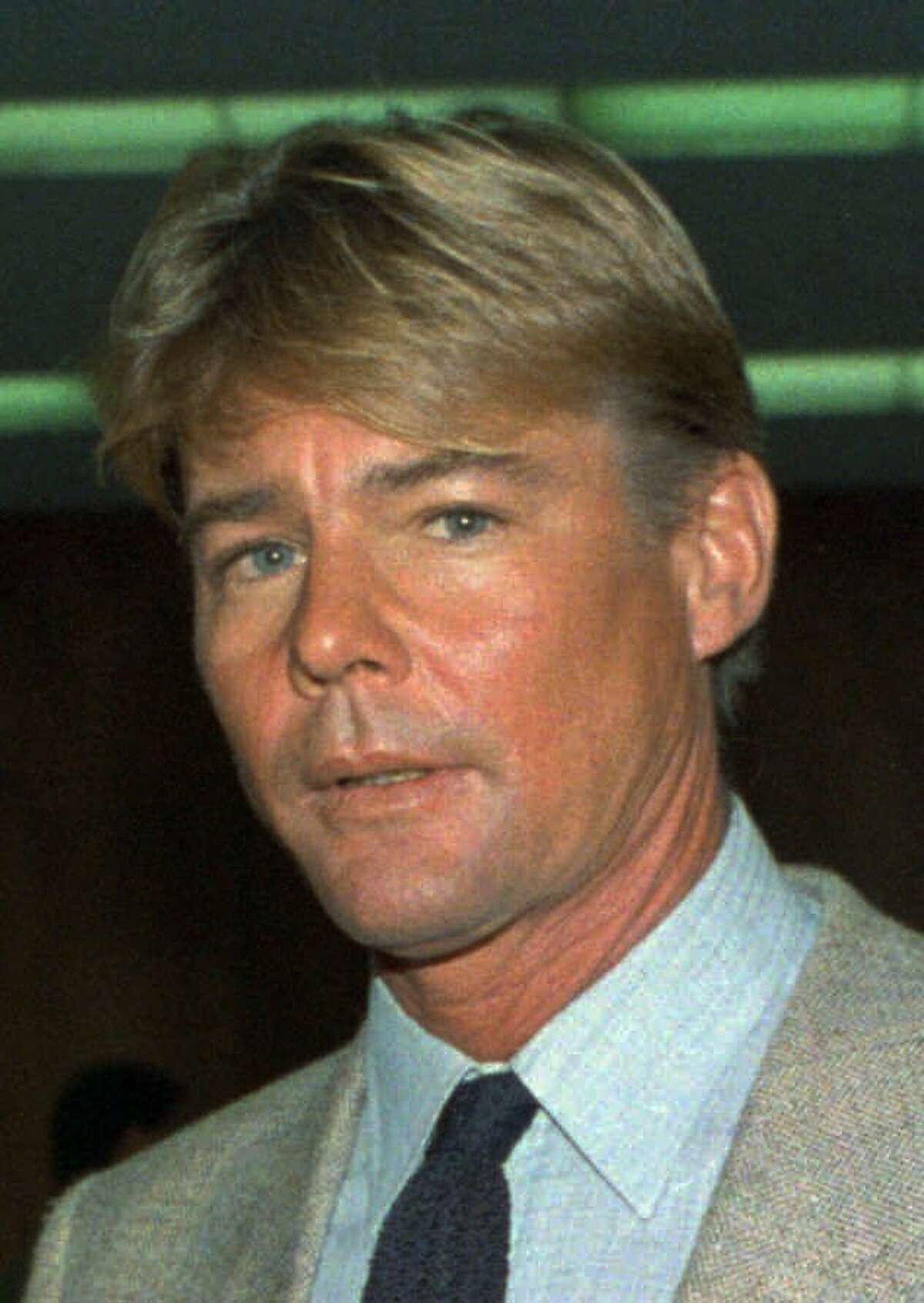 """FILE - This September 1986 file photo shows actor Jan-Michael Vincent. Vincent, known for starring in the television series """"Airwolf,"""" died Feb. 10, 2019. He was 73. (AP Photo/Nick Ut, File)"""