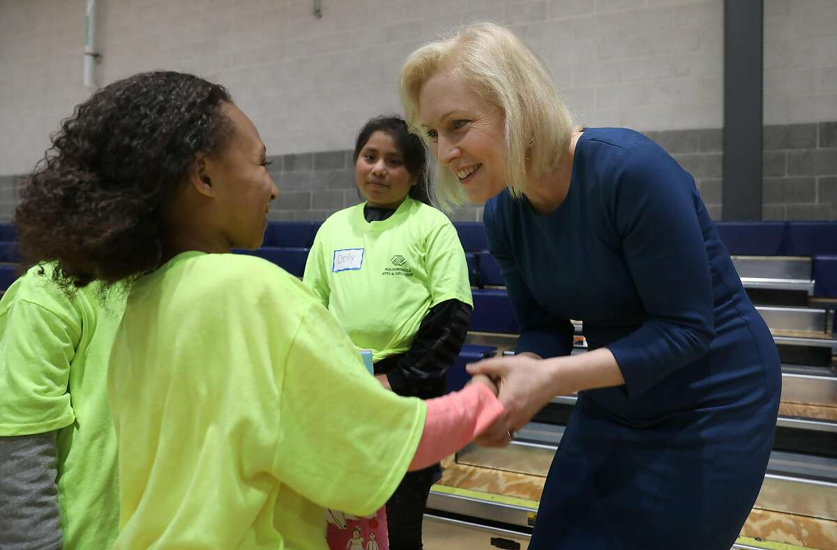 Sen. Kirsten Gillibrand makes a Bay Area appearance Friday at a Boys and Girls Club in Daly City on Friday, March 8, 2019, in Daly City, Calif.