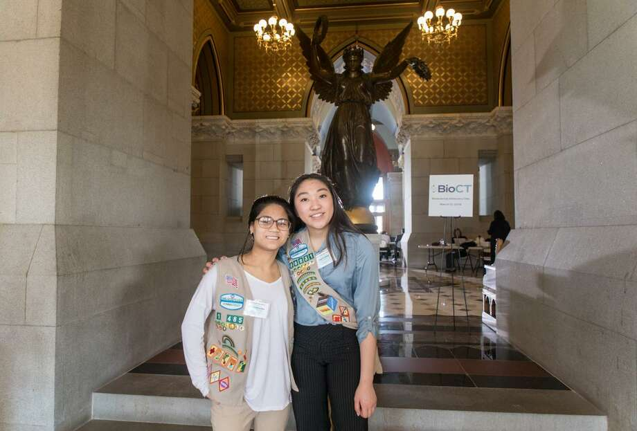 Girl Scouts from around Connecticut will rally at the capitol building in Hartford, Wednesday, March 13. Photo: Contributed Photo