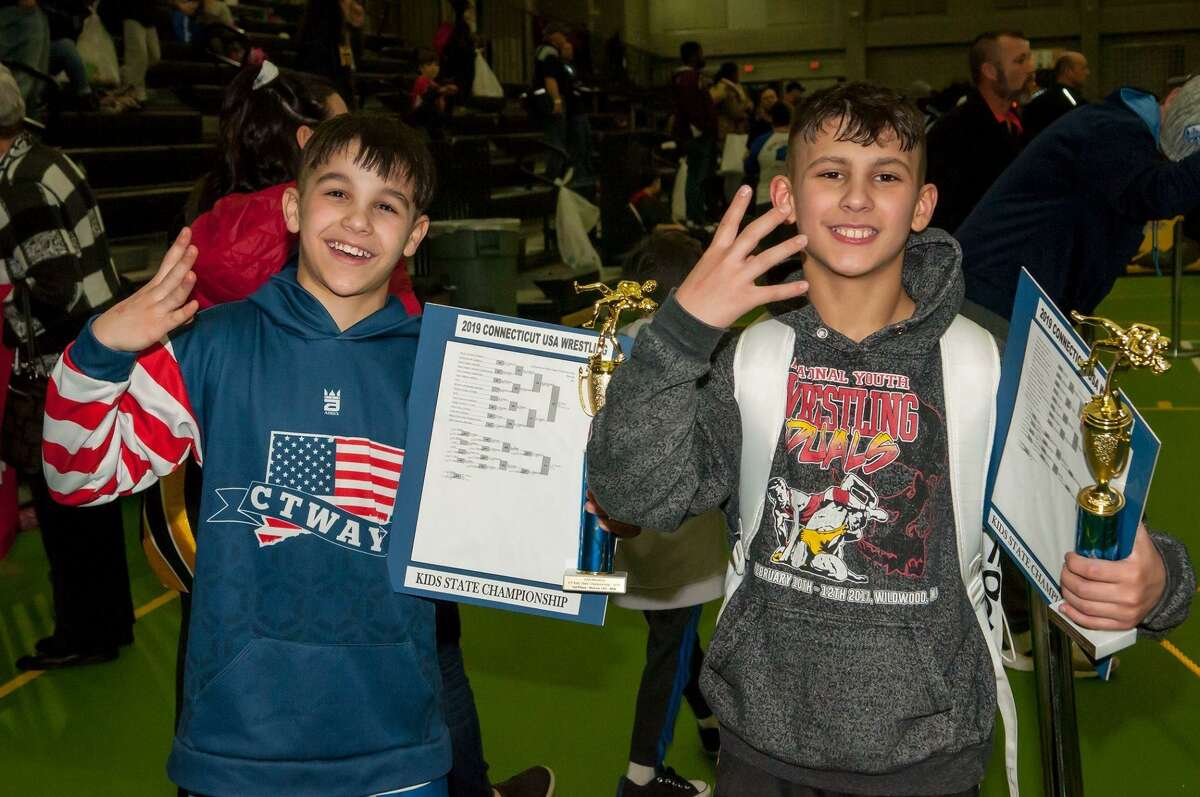 Four-time Connecticut state champions Nick Singer, left, and Carlo Tucci.