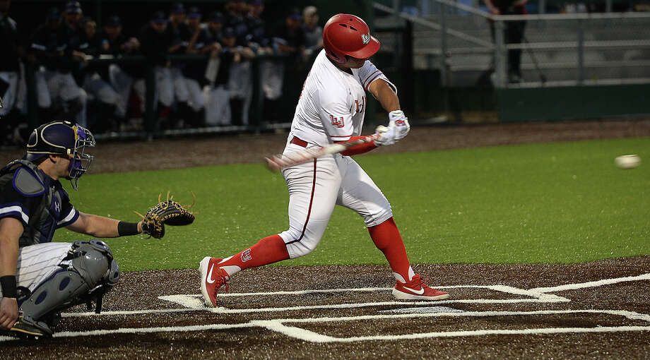 Lamar's J. C. Correa bats against Stephen F. Austin during their conference opener at Vincent Beck Stadium Friday. Photo taken Friday, March 8, 2019 Kim Brent/The Enterprise Photo: Kim Brent, The Enterprise / BEN