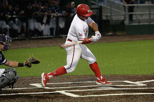 Lamar's J. C. Correa bats against Stephen F. Austin during their conference opener at Vincent Beck Stadium Friday. Photo taken Friday, March 8, 2019 Kim Brent/The Enterprise