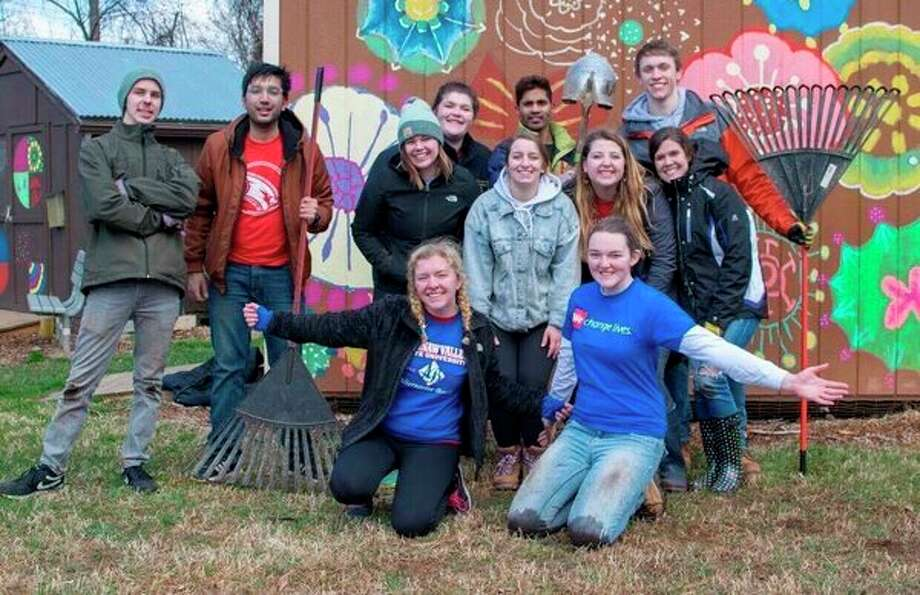 Saginaw Valley State University students involved in Alternative Breaks projects this week are working with Asheville Greenworks in Asheville, North Carolina. (Submitted photo/SVSU)