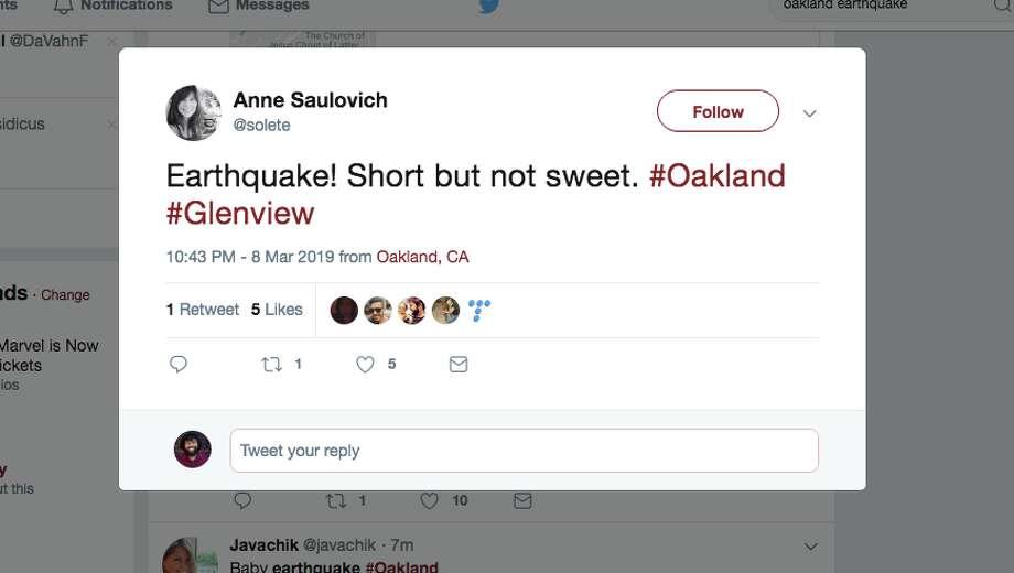 06a5abf872c Short but not sweet' earthquake, magnitude 2.8, shakes East Oakland ...