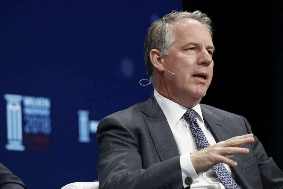 Jim Zelter, co-president of Apollo Global Management, speaks during the Milken Institute Global Conference in Beverly Hills, on April 30, 2018. Photo: Bloomberg Photo By Patrick T. Fallon. / © 2018 Bloomberg Finance LP