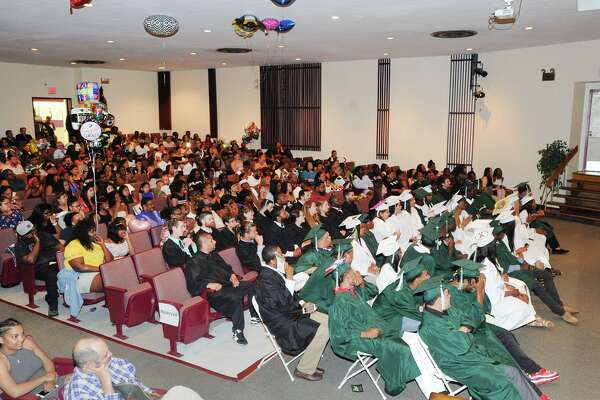 The Stamford Academy graduation ceremony at the Trailblazers Academy in Stamford last June.
