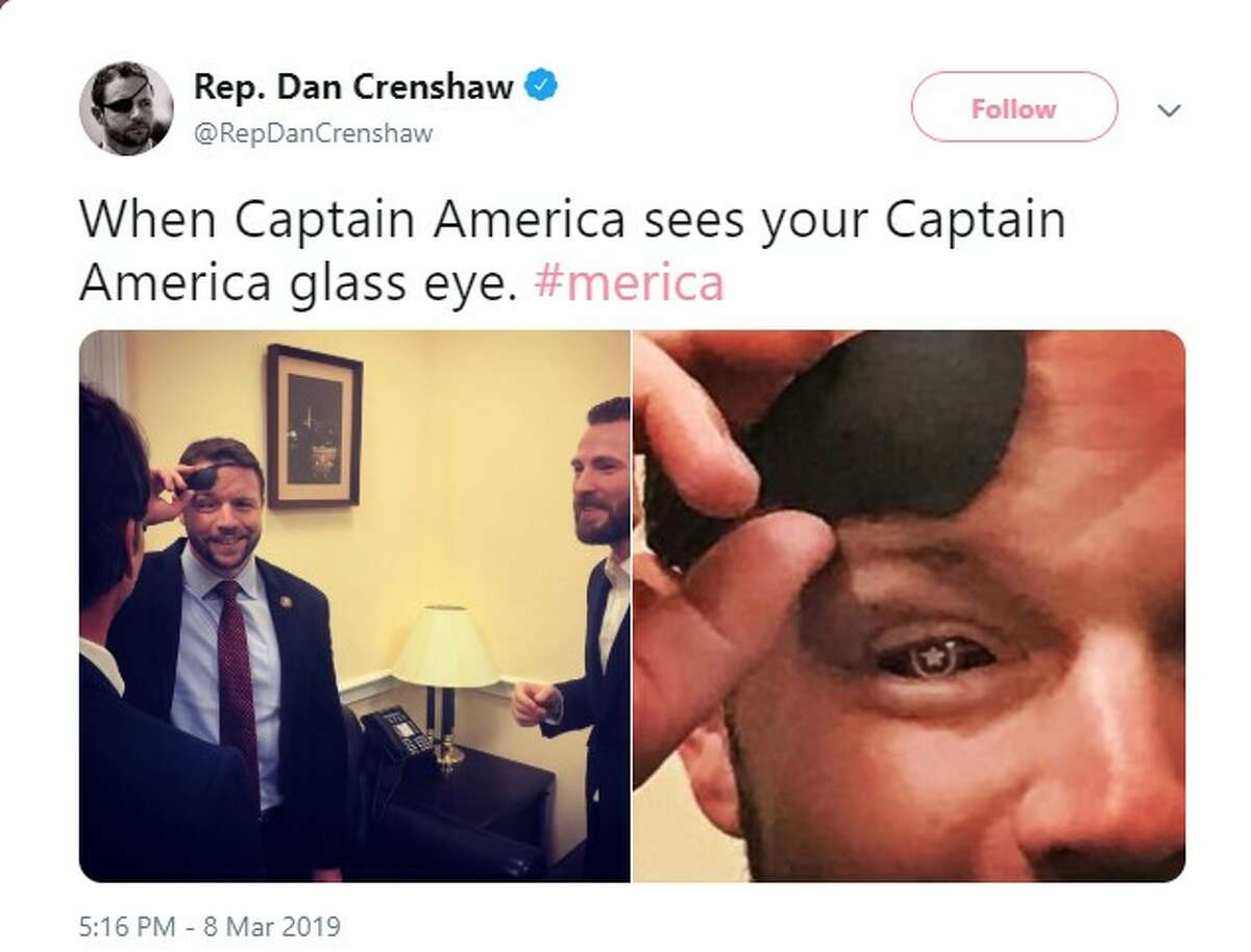@RepDanCrenshaw: When Captain America sees your Captain America glass eye.