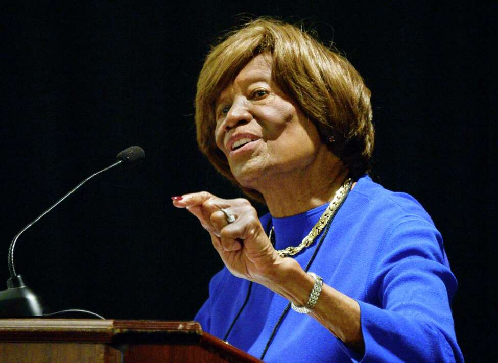 Hazel Dukes, president of the New York State chapter of the NAACP, speaks at the 82nd Annual NAACP New York State Convention Friday Oct. 5, 2018 in Colonie, NY. (John Carl D'Annibale/Times Union)