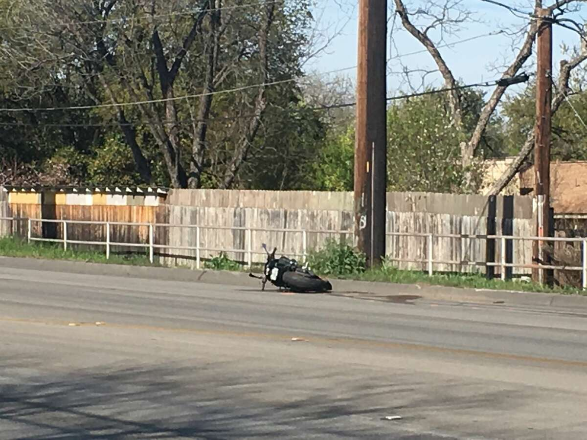 A man was thrown from his motorcycle after a two-vehicle wreck Saturday, March 9, on the West Side, according to the San Antonio Police Department.