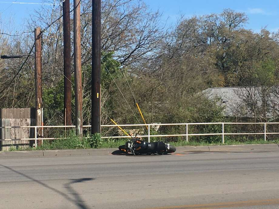 A man was thrown from his motorcycle after a two-vehicle wreck Saturday, March 9, on the West Side, according to the San Antonio Police Department. Photo: Madison Iszler For MySA.com