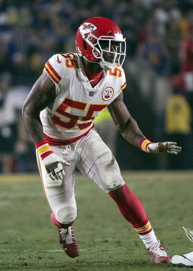 FILE - In this Nov. 19, 2018, file photo, Kansas City Chiefs outside linebacker Dee Ford during an NFL football game against the Los Angeles Rams in Los Angeles. The Chiefs placed a franchise tag on Ford before the NFL deadline on Tuesday, March 5, 2019.  (AP Photo/Kyusung Gong, File) Photo: Kyusung Gong / Associated Press 2018